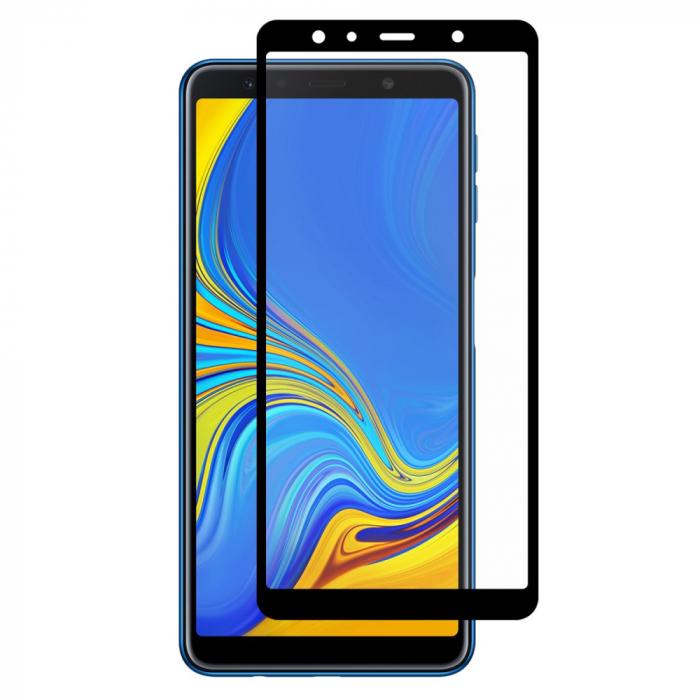 Folie sticla 5D Samsung A7 2018 - negru 0