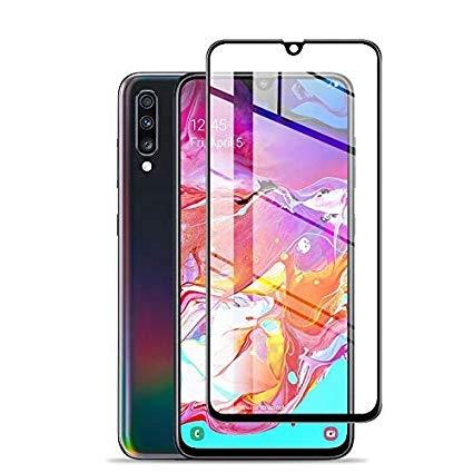 Folie sticla 5D Samsung A70 - negru [0]