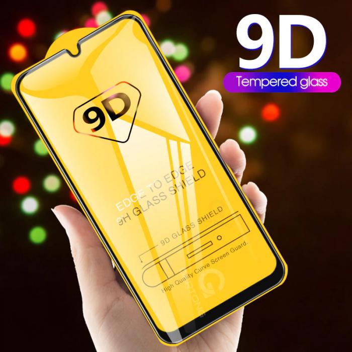 Folie sticla 9D Iphone 7/8+, Negru 0