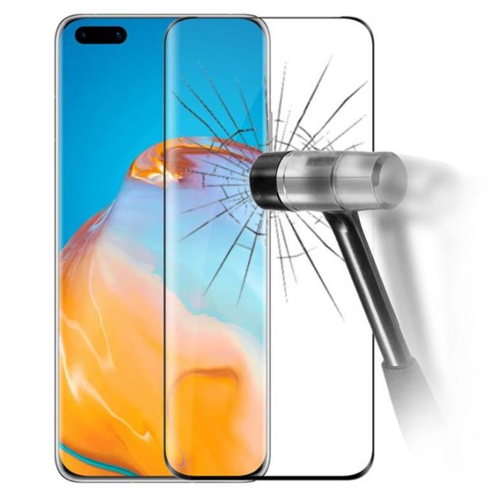 Folie sticla curbata full glue Huawei P40 pro, Negru [0]
