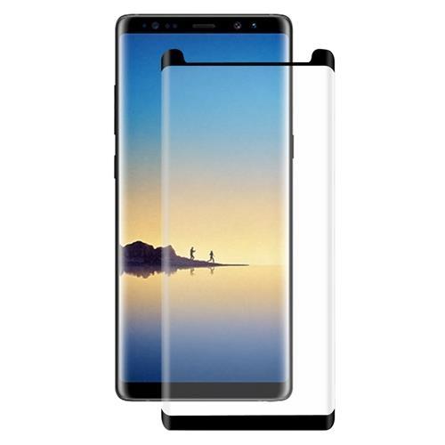 Folie sticla curbata full glue Samsung Note 8 - negru [0]