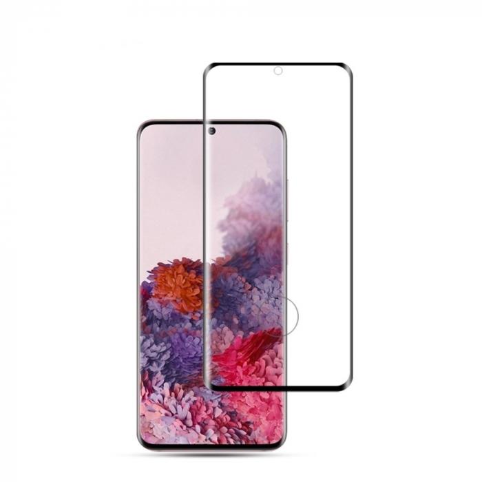 Folie sticla curbata full glue Samsung S20, Negru [0]