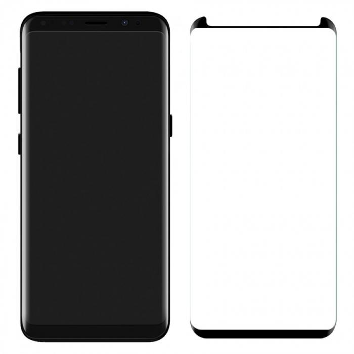Folie sticla curbata full glue Samsung S8+ - negru 0