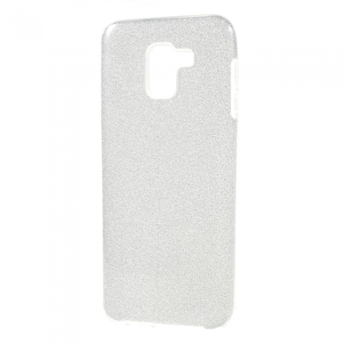 Husa 3 in 1 cu sclipici Samsung J4 plus, Silver [0]