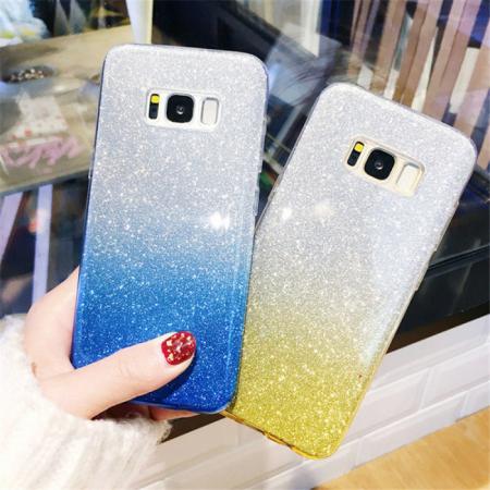 Husa 3 in 1 cu sclipici Huawei Y6P degrade -2 culori [1]