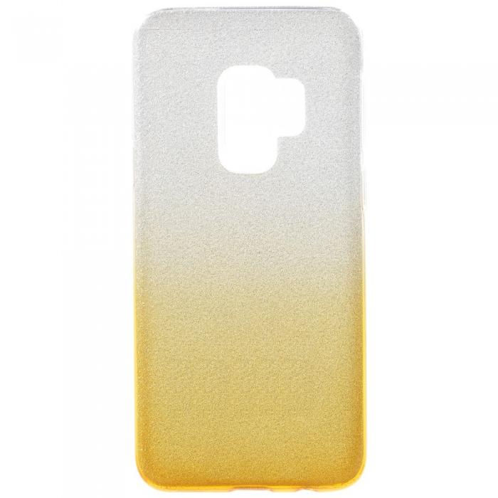 Husa 3 in 1 cu sclipici Samsung S9+, Gold 0