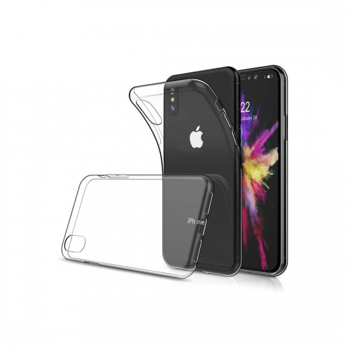 Husa silicon slim Iphone Xs Max - transparent 0