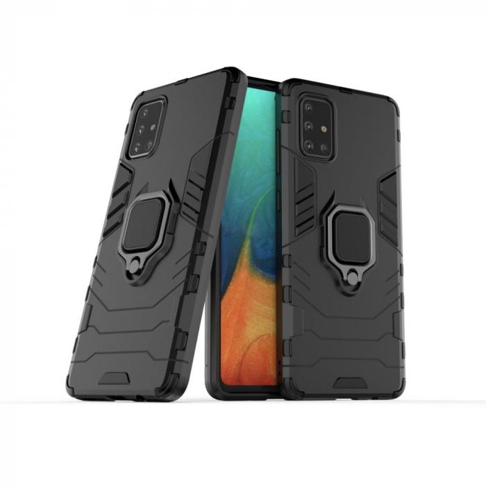 Husa armura inel Samsung A21s , Negru [0]