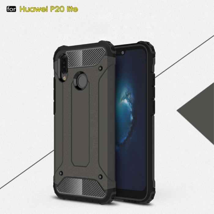 Husa armura strong Huawei P20 lite, Negru [0]