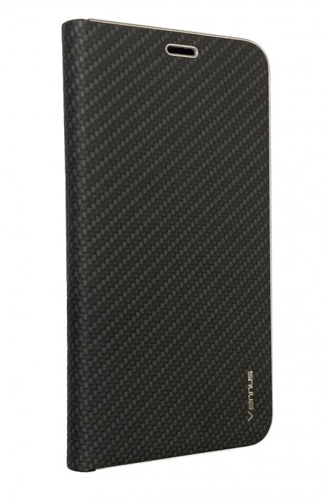 Husa carte Venus carbon Huawei P20 Lite - negru [0]