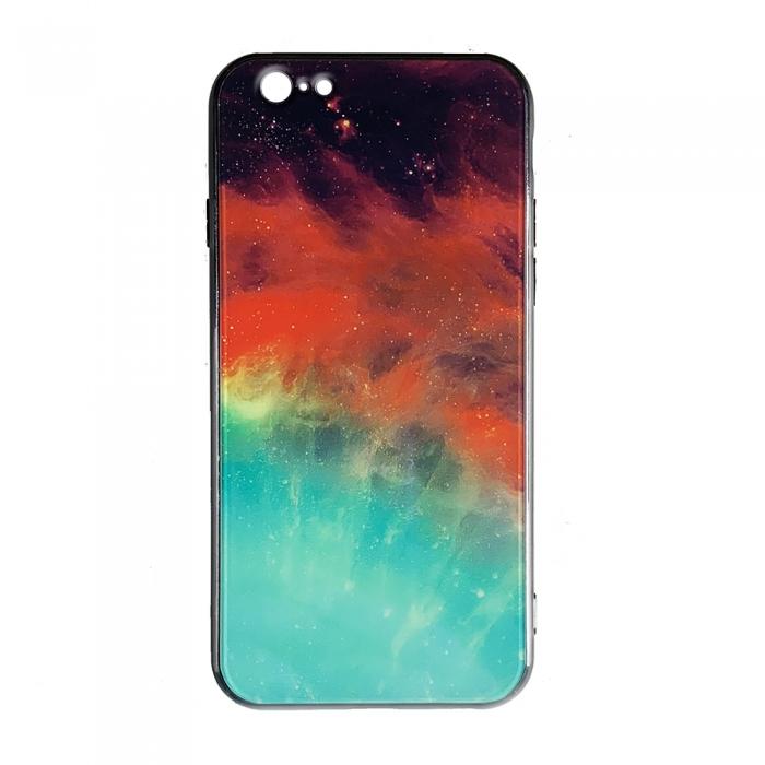 Husa Iphone 6/6s silicon cu sticla - 4 modele 0
