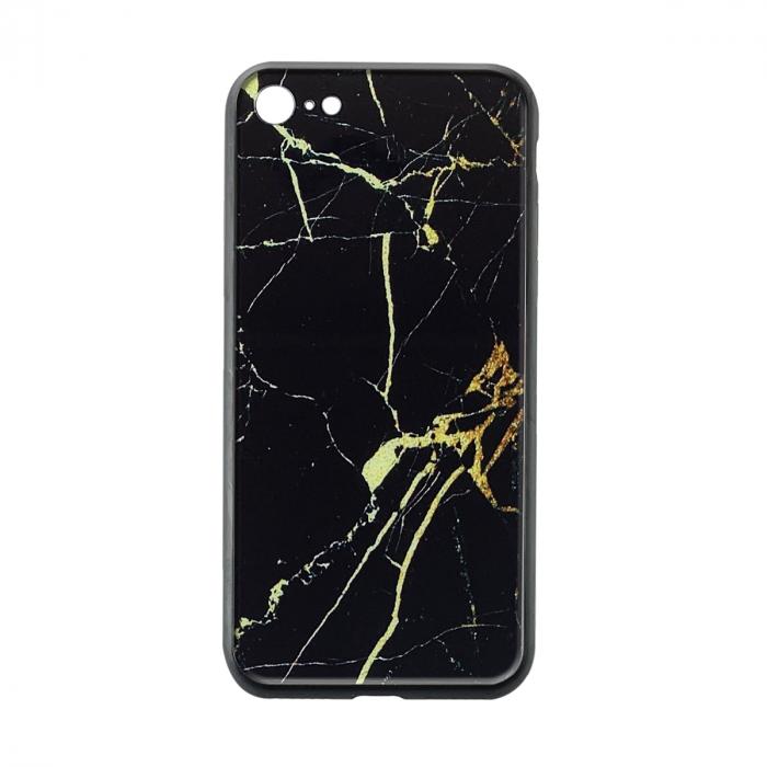 Husa Iphone SE2 silicon cu sticla - 5 modele 0