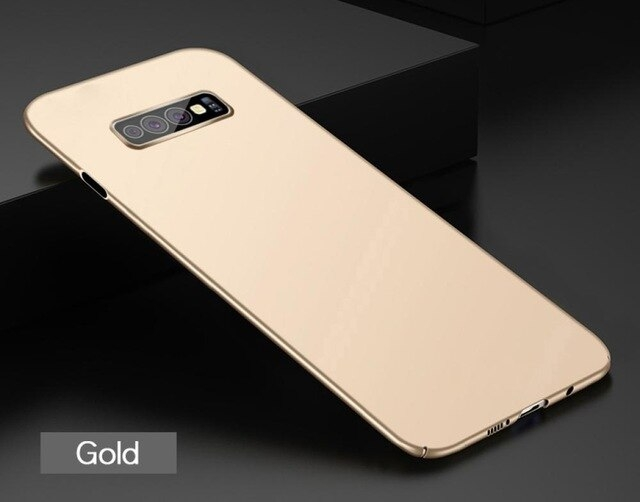 Husa plastic slim mat Samsung S10 plus, Gold 0