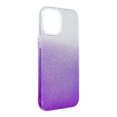 Husa silicon 3 in 1 cu sclipici degrade Iphone 12 Pro Max , Mov [0]