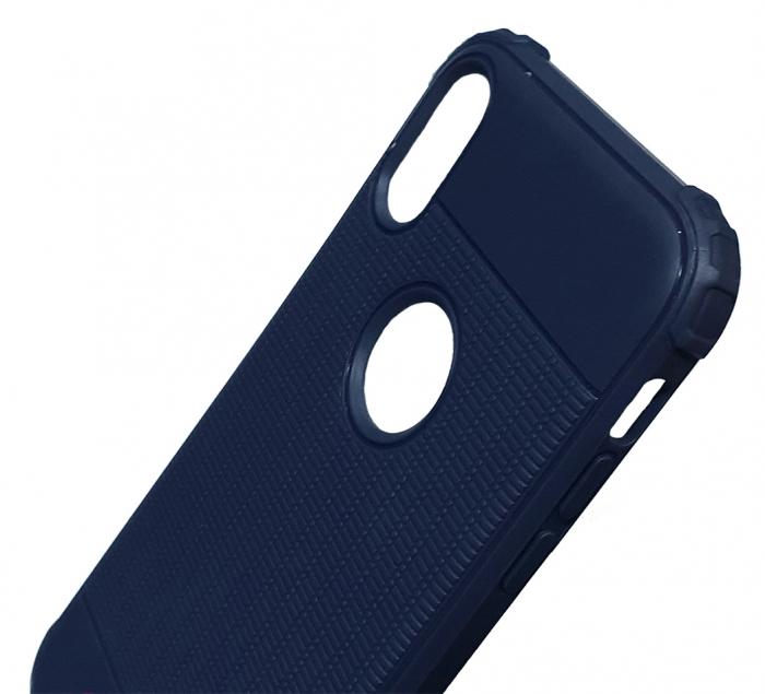 Husa silicon anti shock cu striatii Iphone Xs Max - 2 culori 1