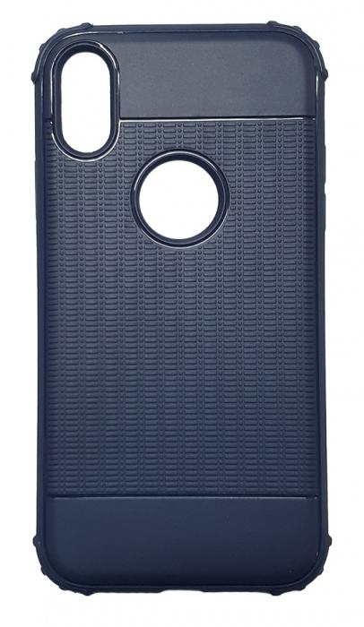 Husa silicon anti shock cu striatii Iphone Xs Max - 2 culori 0