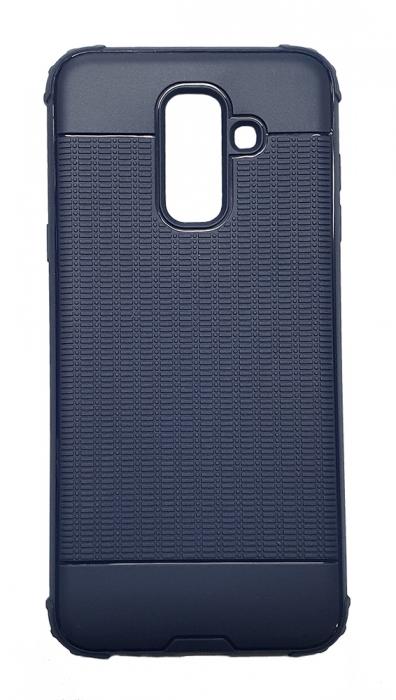 Husa silicon anti shock cu striatii Samsung A6 plus (2018), Albastru [0]