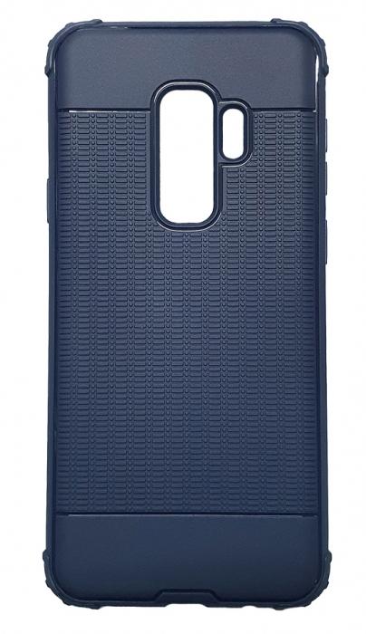 Husa silicon anti shock cu striatii Samsung S9+, Albastru [0]