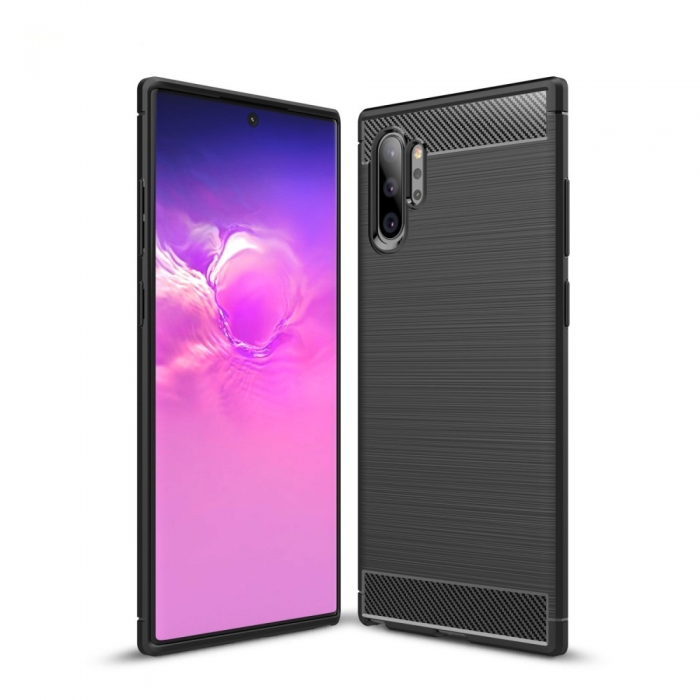 Husa silicon carbmat Samsung Note 10 plus 0