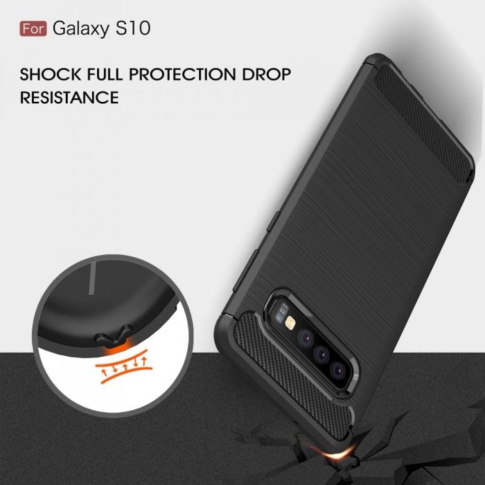 Husa silicon carbmat Samsung S10 1