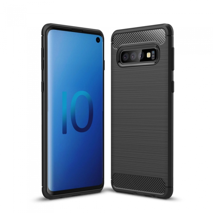 Husa silicon carbmat Samsung S10 plus 0