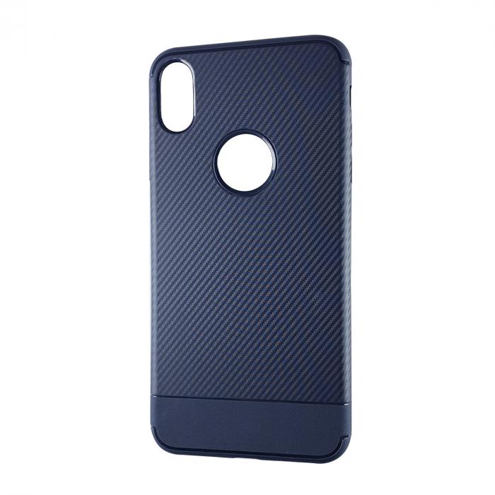 Husa silicon carbon 2 Iphone Xr, Albastru 0