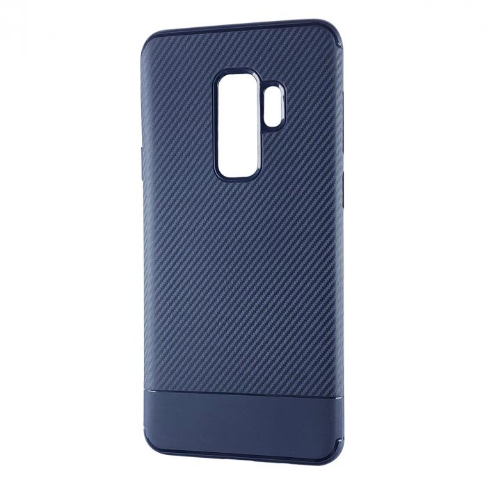 Husa silicon carbon 2 Samsung A6 plus (2018), Albastru [0]