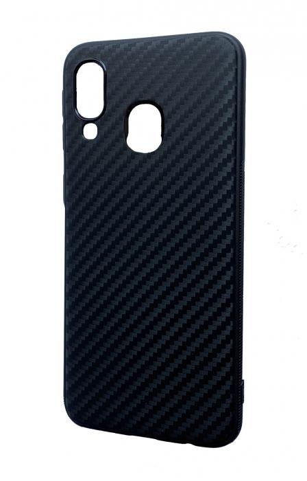 Husa silicon carbon 3 Samsung A40 - negru 0