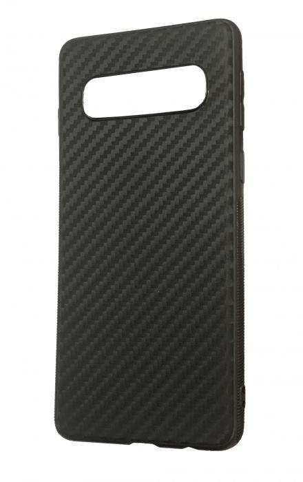 Husa silicon carbon 3 Samsung S10 - negru [0]