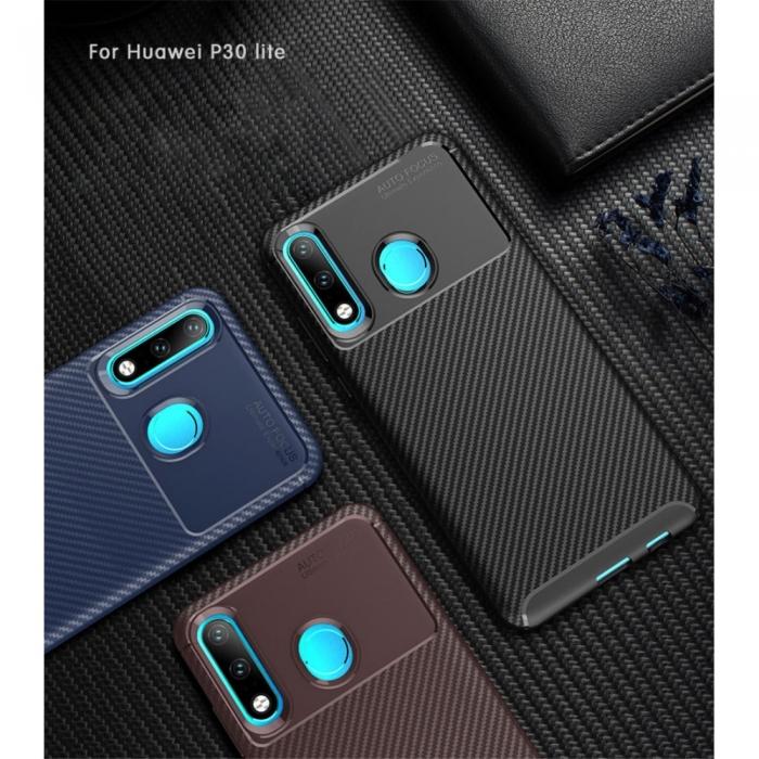 Husa silicon carbon 4 Huawei P20 lite - 3 culori 0