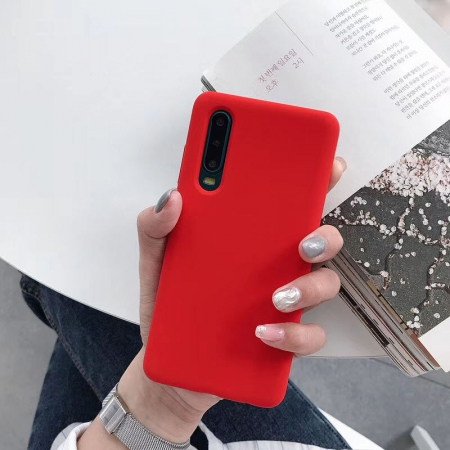 Husa silicon soft mat iPhone 12/12 Pro - rosu [0]
