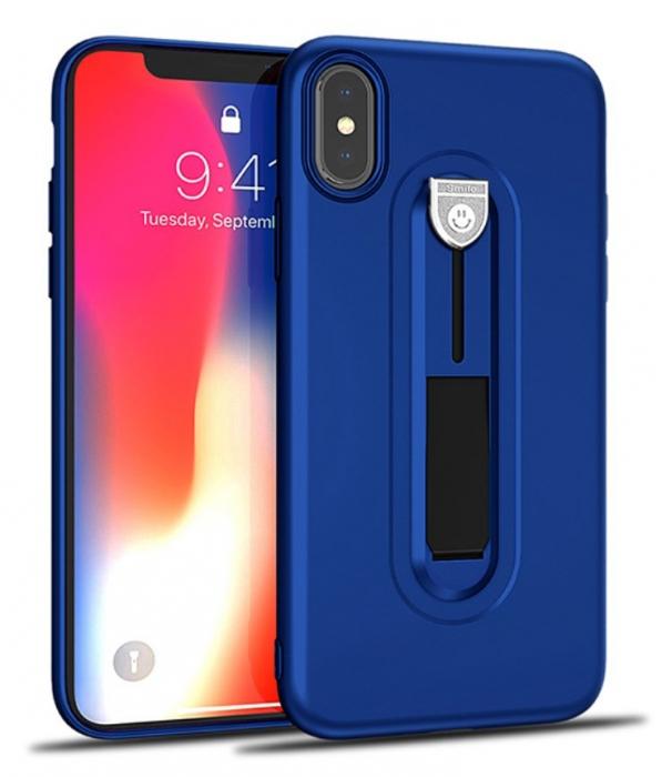 Husa silicon cu suport Iphone Xs Max - 3 culori 0