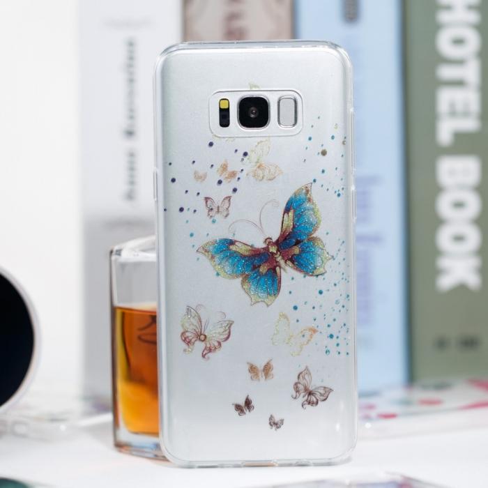 Husa silicon design matrita Samsung S8+ 3
