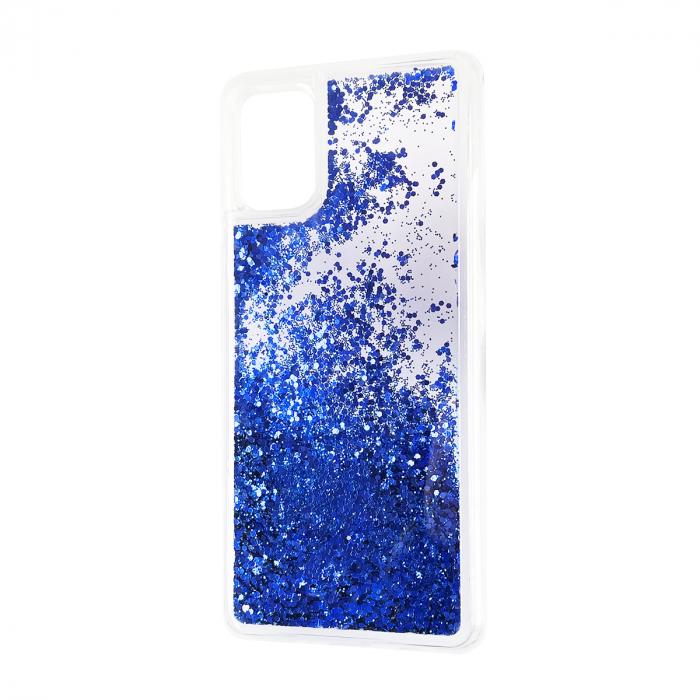 Husa silicon lichid sclipici iPhone 12 mini albastru [0]