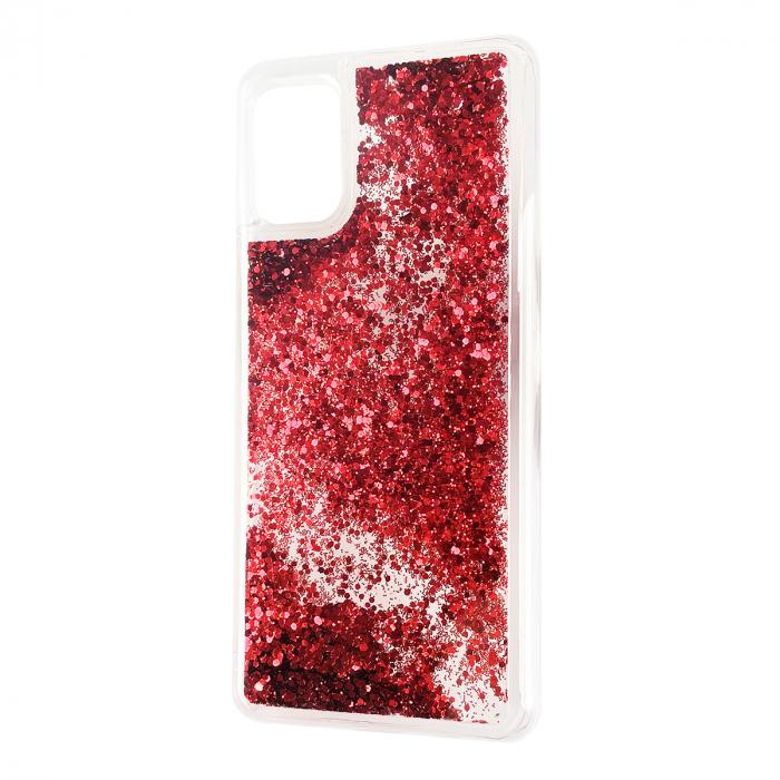 Husa silicon lichid sclipici iPhone 12 mini rosu [0]