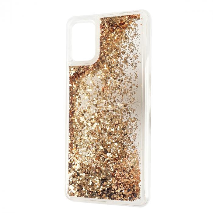 Husa silicon lichid sclipici iPhone 12 Pro Max gold [0]