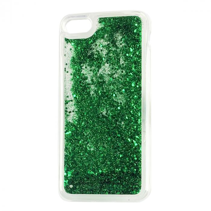 Husa silicon lichid-sclipici Iphone 6, Verde 0