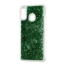 Husa silicon lichid sclipici Samsung A20s verde [0]
