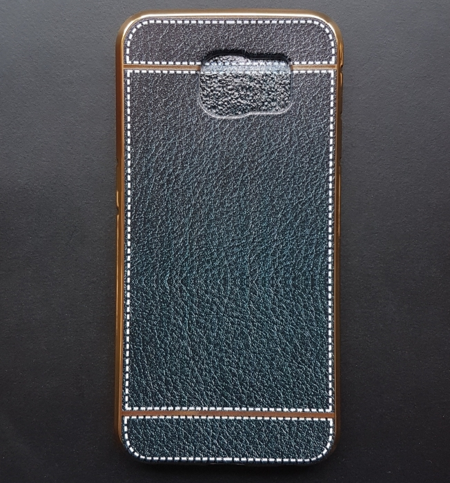 Husa silicon piele-cusatura Samsung S6 edge - 5 culori 0