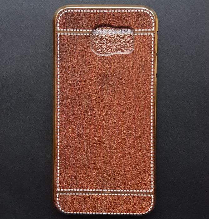 Husa silicon piele-cusatura Samsung S7 - 5 culori 0