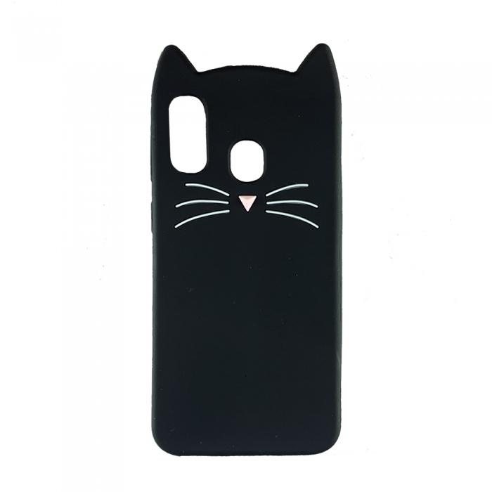 Husa silicon pisica Samsung A51 - 2 culori 0
