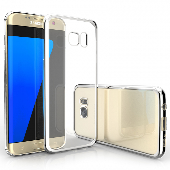Husa silicon placat margine Samsung S6 - 3 culori [0]