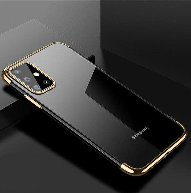 Husa silicon placat margini Samsung A40 - 4 culori 0