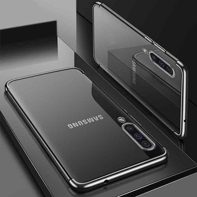 Husa silicon placat margini Samsung A70 - 2 culori 0