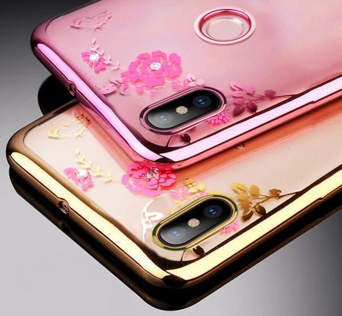 Husa silicon placata si pietricele Huawei Y7 (2019) - 2 culori 0