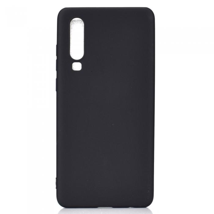 Husa silicon slim mat Huawei P30 - negru 0