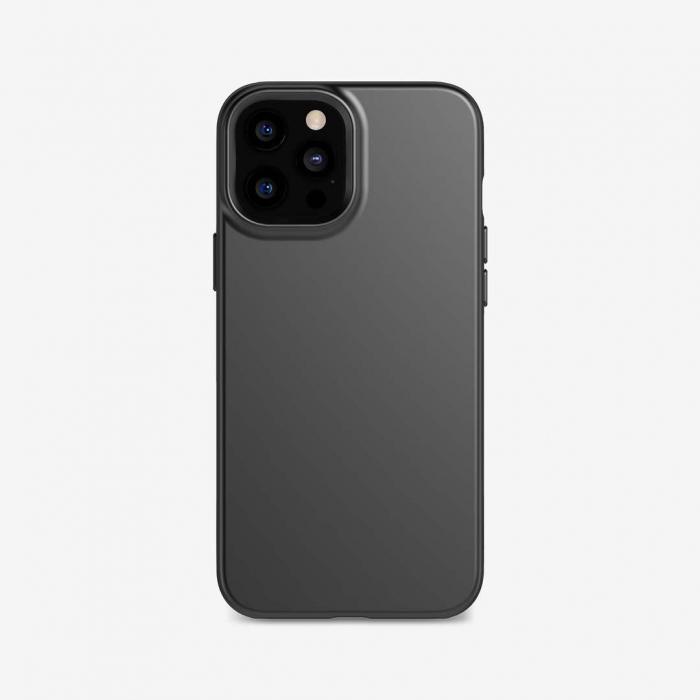 Husa silicon slim mat iPhone 12 Pro Max negru [0]