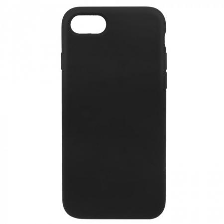 Husa silicon slim mat Iphone 7 negru [0]