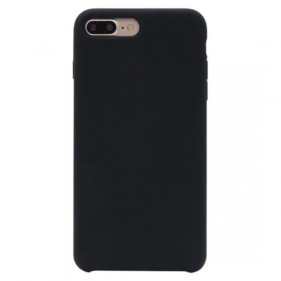 Husa silicon slim mat Iphone 8+ negru 0