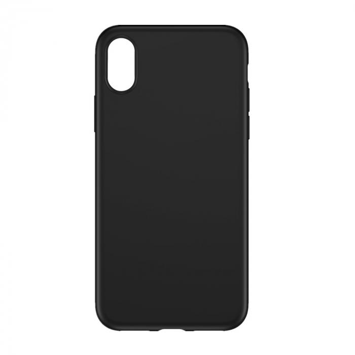 Husa silicon slim mat Iphone X/Xs negru 0